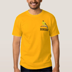Men's Embroidered Basic T-Shirt with Embroidered Birder Gifts design