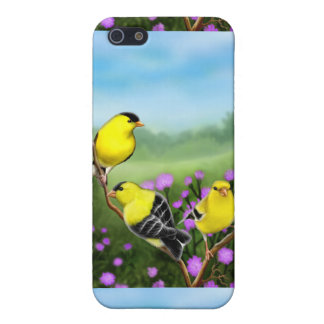 Customizable American Goldfinches iPhone Case