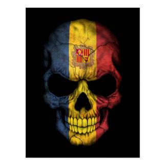 Customizable Andorra Flag Skull Postcard