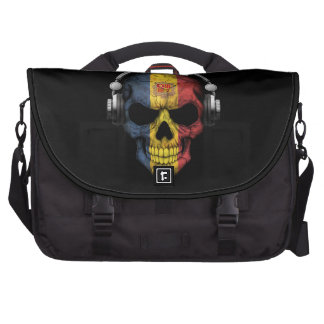 Customizable Andorran Dj Skull with Headphones Bags For Laptop