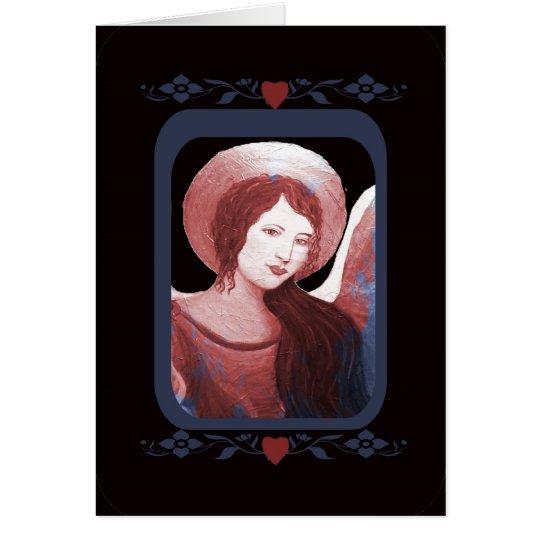 Customizable Angel Of Hearts Card