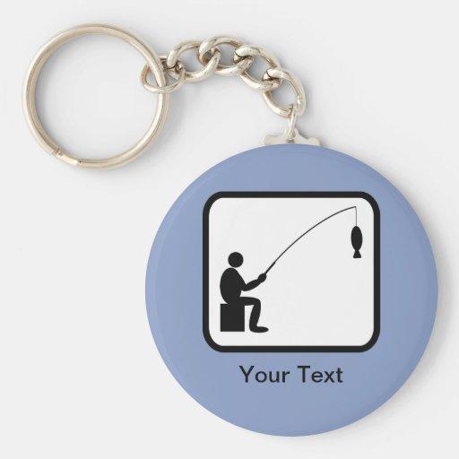 Customizable Angler Logo Keychain