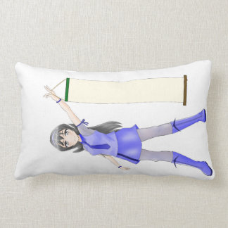 Customizable Anime Girl With Scroll Bed Pillow