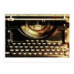 Customizable antique typewriter postcard