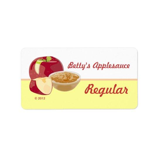 Customizable Applesauce Lables Label