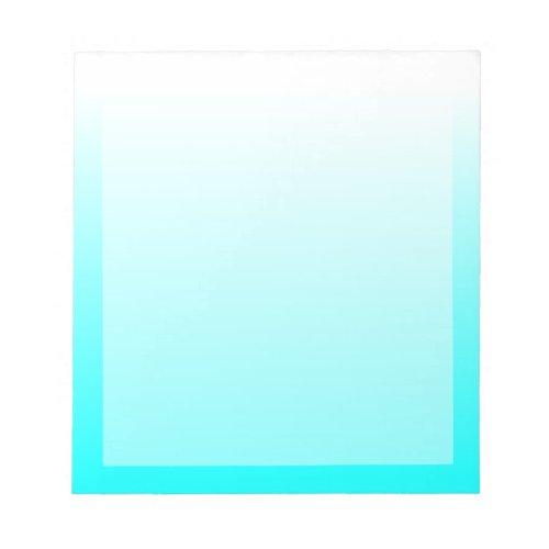 Customizable Aqua Cyan Ombre Notepad