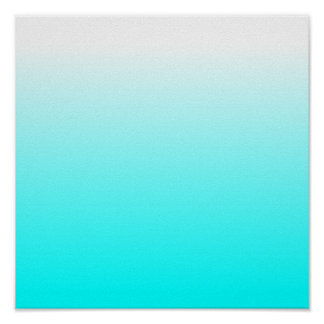 Customizable Aqua Ombre Poster