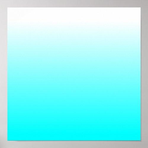 Customizable Aqua Ombre Poster
