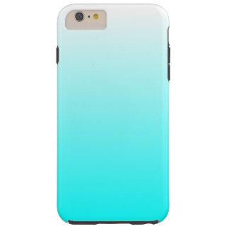Customizable Aqua Ombre Tough iPhone 6 Plus Case