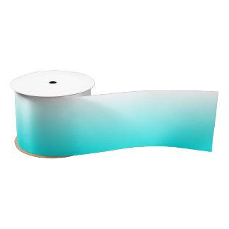 Customizable Aqua Ombre Satin Ribbon