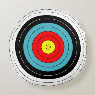 Customizable Archery Target Round Pillow