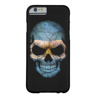 Customizable Argentine Flag Skull Barely There iPhone 6 Case