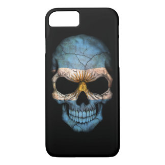 Customizable Argentine Flag Skull iPhone 8/7 Case