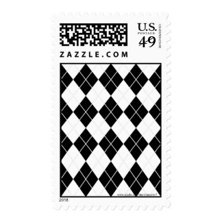 Customizable Argyle postage stamps