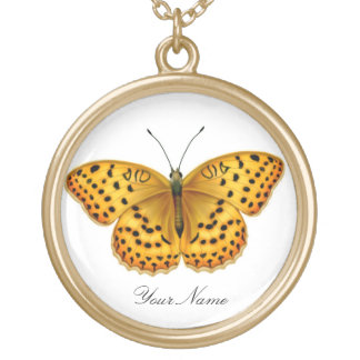 Customizable Argynis Fritillary Butterfly Necklace