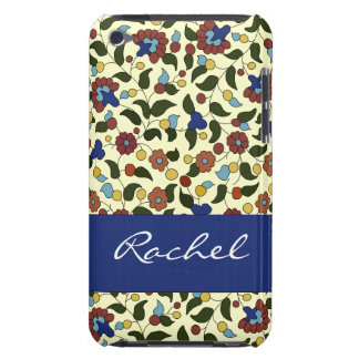 Customizable Armenian flowers - Blue & Cream iPod Touch Cover