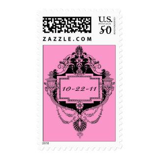 Customizable art nouveau frame stamp