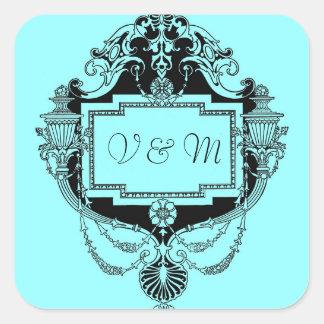 Customizable art nouveau frame sticker