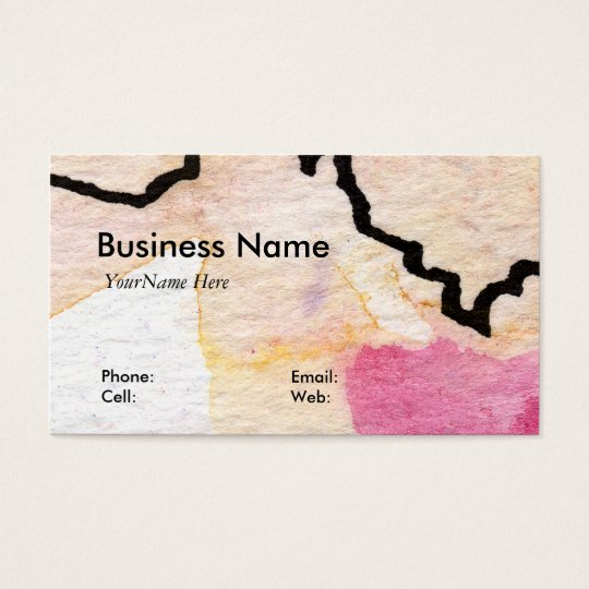Customizable Artful Business Card by GInette