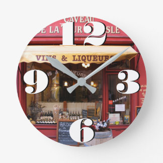 Customizable Artisan Store in France Round Clock