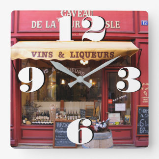 Customizable Artisan Store in France Square Wall Clock