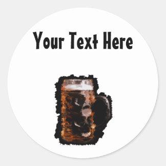 Customizable Artistic Beer Stien Sticker