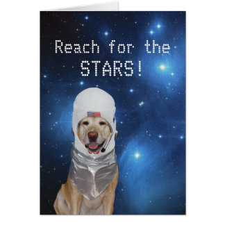 Customizable Astronaut Lab Birthday Greeting Cards