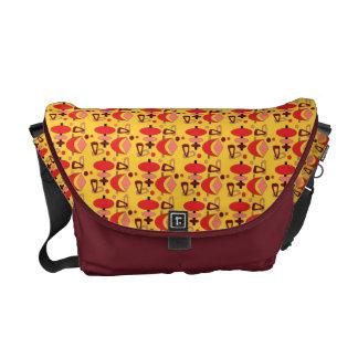 Customizable Atomic Retro Shapes Messenger Bag