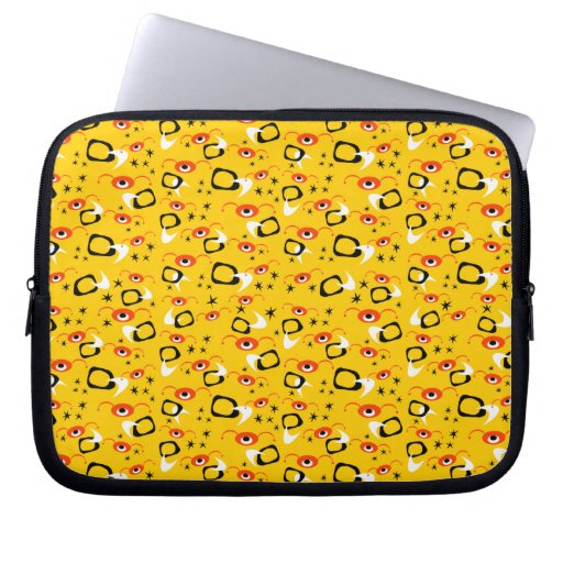 Customizable Atomic Spiders Laptop Computer Sleeves