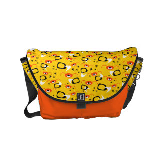 Customizable Atomic Spiders Small Messenger Bag