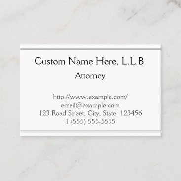 Customizable Attorney Business Card