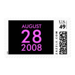 Customizable August RSVP Response Save the Date Stamps