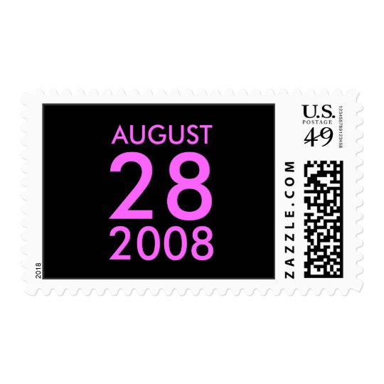Customizable August RSVP Response Save the Date Postage