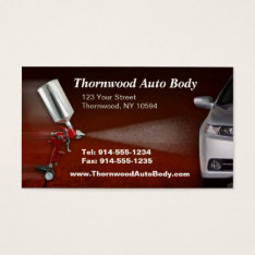 CUSTOMIZABLE Auto Body BC Business Card at Zazzle