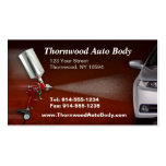 CUSTOMIZABLE Auto Body BC Business Card Templates