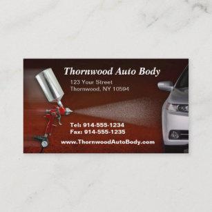 Auto body business cards zazzle customizable auto body bc business card colourmoves