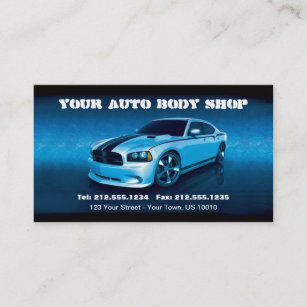 Auto body business cards zazzle customizable auto body mechanic car detailing business card reheart Image collections
