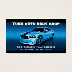 Customizable Auto Body Mechanic Car Detailing Business Card at Zazzle