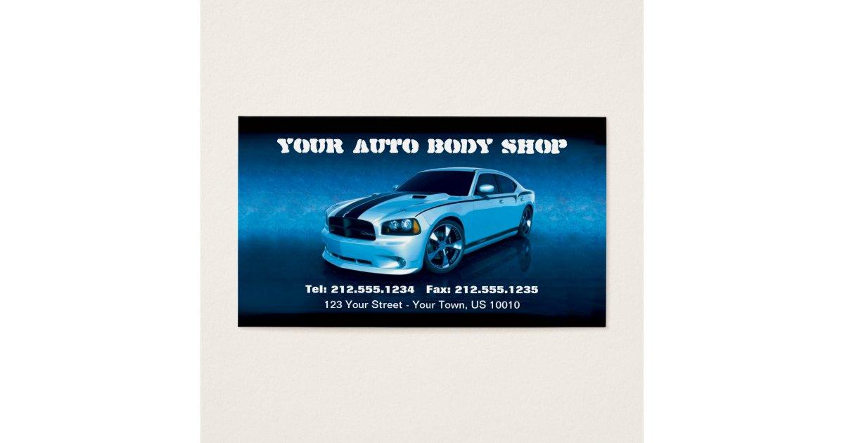 CUSTOMIZABLE Auto Body Mechanic Car Detailing Business Card ...