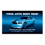 CUSTOMIZABLE Auto Body Mechanic Car Detailing Business Card Template