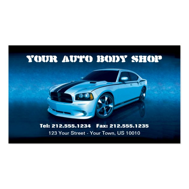 customizable auto body mechanic car detailing business