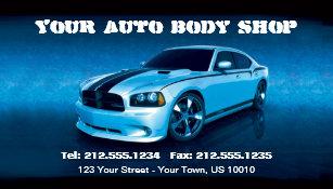 Auto body business cards zazzle customizable auto body mechanic car detailing business card colourmoves