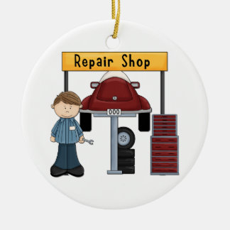 Customizable Auto Repair Shop Tees and Gifts Ceramic Ornament