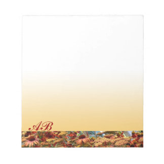 Customizable: Autumn daisies Notepad