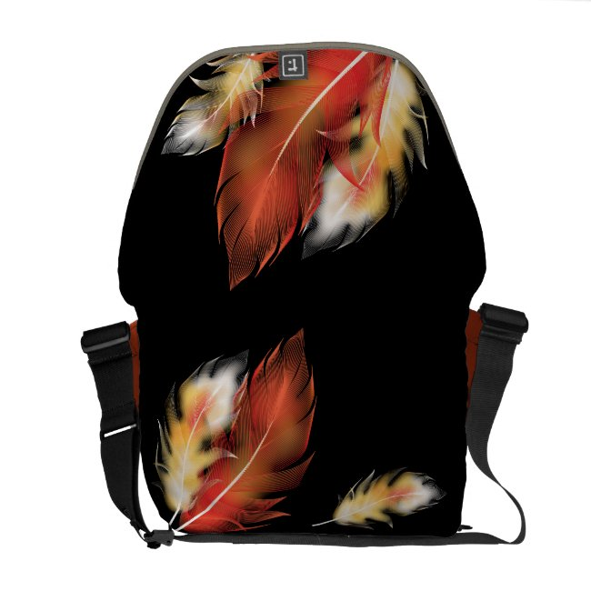 Customizable Autumn Feathers Rickshaw