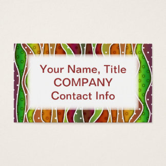 Customizable AUTUMN STRIPES BUSINESS CARD