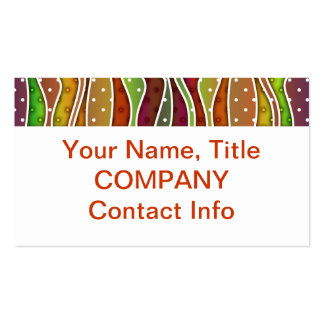 Customizable AUTUMN STRIPES BUSINESS CARDS