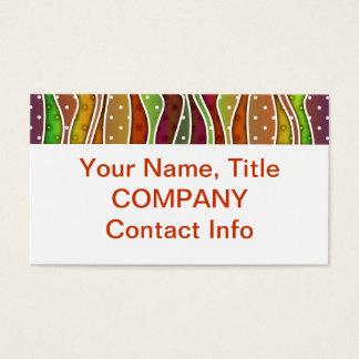 Customizable AUTUMN STRIPES BUSINESS CARDS