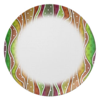 Customizable AUTUMN STRIPES DESIGNER PLATE