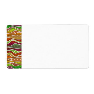 Customizable AUTUMN STRIPES NAME TAGS - LABELS